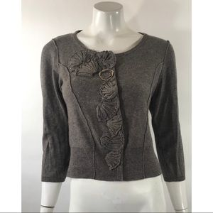 Sparrow Cardigan Sweater Sz Large Gray Embellished